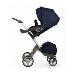 Stokke Xplory Stroller Blue Infant Pram Carriage Buggy Carrier Newborn Nursery  #StokkeStroller
