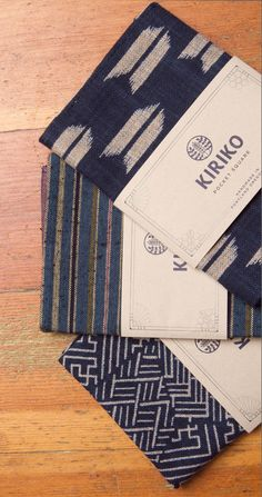 product design & packaging Kiriko - Premium Japanese fabric made in Portland, OR How To Choose The P Scarf Packaging, Packaging Design, Branding Design, Tea Packaging, Identity Branding, Packaging Ideas, Corporate Design, Visual Identity, Japanese Textiles