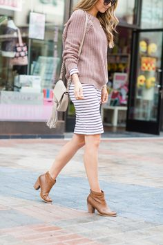 66627aad54 4 Ways to Refresh Your Closet Without Buying Anything. Striped Dress ...