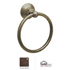 Rohl ROT4TCB Country Bath Towel Ring in Tuscan Brass *** Want additional info? Click on the image. Note:It is Affiliate Link to Amazon.