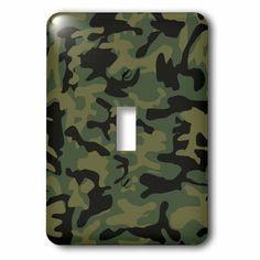 7b597b0e0cf87 3dRose Dark green camo print - hunting hunter or army soldier uniform style camouflage  woodland pattern