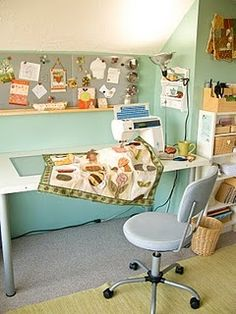 Whether it's a room or a nook that you're able to dedicate to crafts, make it your own!