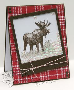 Snowy Moose Creations: Shake Your Moose for Friday Mashup FM175 Stampin Up Walk in the Wild