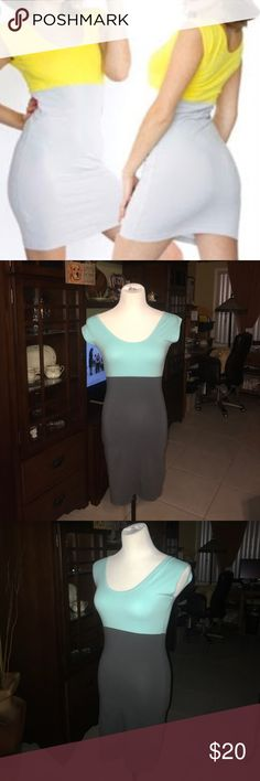407a9cdf1 #poshmark #fashion #shopping #style #Handbags. See more. AMERICAN APPAREL  Block Mini Dress American Apparel Baby Blue and Grey Mini Dress. Skin tight