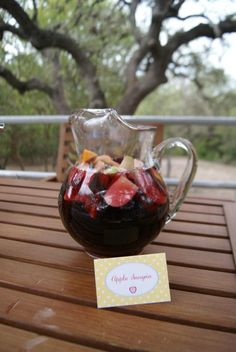 Recipe for Apple Sangria. This would make a lovely fall drink!