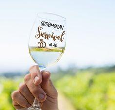 Funny Groomsman Glass, Funny Groom Cup, Gift for Groomsmen, Wedding Planning Gift, Wine Beer for Best Men, Groom Attendant, Gift from Bride