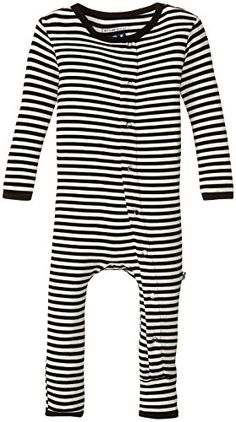 KicKee Pants Baby Print Fitted Coverall Prdkpca213Mnns MidnightNatural  Stripe 1824 Months   You can find more b78012bdc
