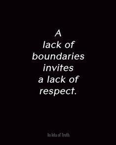 boundaries, respect yourself