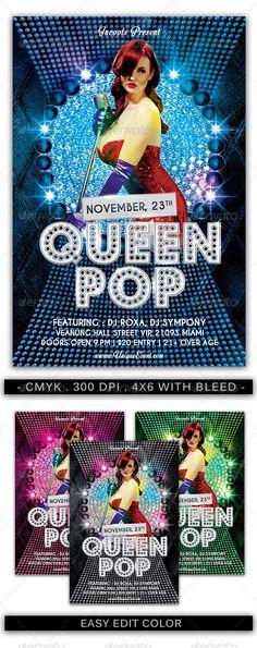 Queen Pop Flyer Template