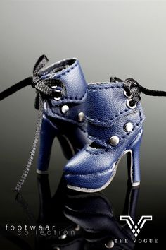 The Vogue Blue Leather Stylish Fashion High heeled Shoes for   Barbie