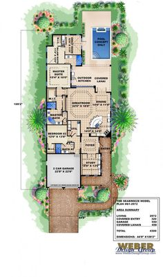 Exceptional Beach House Plan: Cottage Home Floor Plan For Narrow Coastal Lot. Coastal  House PlansFlorida ...