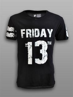 #friday #13th #play #shirts #tshirt #tee #clothing #wear #urban #street #splater #killer #jason #voorhees #thriller #80s #man #men #black #shop #gift