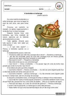 SOS PROFESSOR-ATIVIDADES: A Borboleta e a Tartaruga