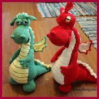 Fieros dragones amigurumi