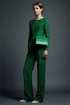 & Green again!  Sfilata Valentino New York - Pre-collezioni Primavera Estate 2013 - Vogue