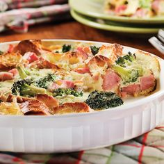 Recipe: Quiche Express with Ham and Broccoli - Quiches, Quiche Express, Confort Food, Omelette, Coco, Meal Prep, Waffles, Cabbage, Brunch