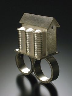 Pinned by Catherine Davies Paetz: metal clay ring by CeCe Wire