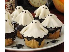 Holy sheet, these look good. food, ghost cupcakes, ghosts, halloween cupcakes, muffin, halloween snacks, halloween treats, spooky halloween, happy halloween