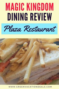 A review of the Plaza Restaurant in the Magic Kingdom at Walt Disney World Resort in Orlando Florida. It's a lovely restaurant that fits in with the theming of its location in the park (Main Street USA). But how is the food? Find out what our family thought of the Main Street Burger (with a Beer battered Onion Ring & Sunny-side Up Egg), Plaza Turkey Club, & more. Use this advice to help decide if a lunch or dinner at the Plaza will be part of your next Disney World vacation. Disney dining tips. Walt Disney World Vacations, Disney World Resorts, Magic Kingdom Dining, Orlando Resorts, Orlando Florida, Disney World With Toddlers, Beer Battered Onion Rings, Disney Dining Tips, Disney World Planning