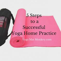 5 of the simplest ways to make a yoga home practice that sticks! For beginners and pros alike. :)