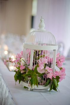Birdcage  Do black cages with the white flowers