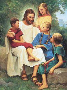 Jesus_with_children12  lsdclipart.com
