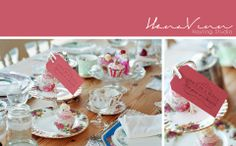 Vintage China Tea Party. Vintage China for Wedding Hire  Photoshoot for- https://www.facebook.com/pages/Rosie-Loves-Vintage/214683238673623?fref=ts