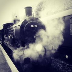 Swanage Steam Gala 2014. Beautiful old steam train at the Swanage Steam Railway