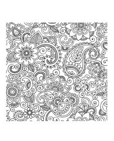 Adult Coloring Pages: Paisley 1