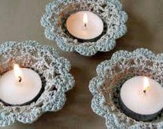 Image result for crochet tealight holder pattern