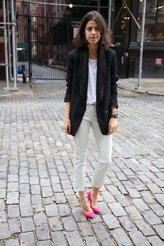 Leandra...killing it in those pink heels.