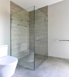 Shower with concrete floor