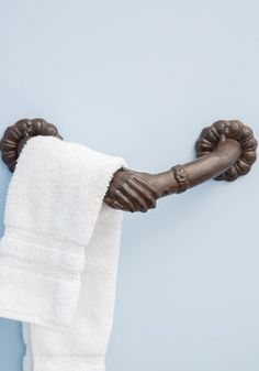 Helping Hands Towel Holder, #ModCloth This is so cool! It's very us, I think. It's quirky and cool and unexpected, just like you and me, let me tell ya hunny!