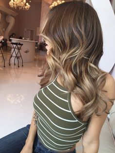 Glam Beverly Hills - Beverly Hills, CA, United States. Butterscotch ombrè done by Jazmine