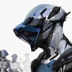 """artissimo: """" robotsion by anthony jones Spectrum The Best in Contemporary Fantastic Art """" Character Concept, Character Art, Character Design, Character Inspiration, Robot Design, Helmet Design, Anthony Jones, Sci Fi Armor, Robot Concept Art"""