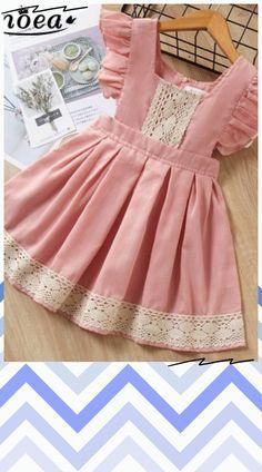 Girls Frock Design, Baby Dress Design, Kids Frocks Design, Frocks For Girls, Toddler Girl Dresses, Little Girl Dresses, Little Girl Fashion, Kids Fashion, Baby Girl Dress Patterns