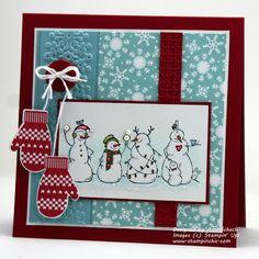 The Stampin' Schach, adorable snowmen!