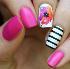 Spring Floral Nail Art #nailart