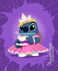 amymebberson: Family means anyone can be a Princess. Decided to give the Stitch that James guest-drew for Pocket Princesses 29 his own portrait. Original drawing by James Silvani, colours by me :) Lilo Stitch, Disney Stitch, Disney And Dreamworks, Disney Pixar, Disney Characters, Arte Disney, Disney Magic, Ohana, Disney Dream