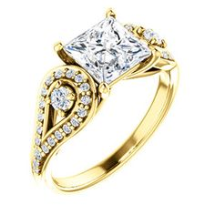 CECILIA #122002 | 14kt Yellow Princess Engagement Ring | Ever&Ever