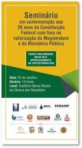 A Federação Nacional dos Policiais Federais (Fenapef), representada pelo seu presidente, Luís Antônio Boudens, participa amanhã, 5, do seminário em comemoração aos 28 anos da Constituição Federal. O e ...