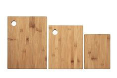 Eco-Friendly Bamboo Cutting Boards - Great for Cutting Vegetables, Fruits, Meats and More - Small, Medium and Large Boards - Set of 3