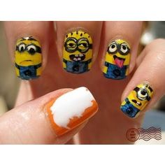 Polyvore Nail Designs hahaha love Despicable Me!