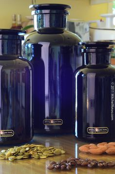 """Miron glass was developed by the Swiss scientist Yves Kraushaar following 14 years of research. The secret of this special glass is based on the fact that the molecular structure of any substance is permanently activated and energized by """"violet life radiation."""" This also explains the violet glass's high natural preservation capacity."""