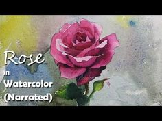 How to Paint A Rose in Watercolor (Narrated Video) - YouTube