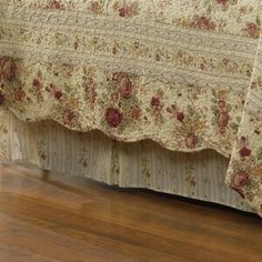August Grove Traditional bed skirt coordinates with the quilt sets and accessories. Country Bedding Sets, Country Quilts, King Size Quilt, Queen Quilt, Ruffle Bedding, Cotton Bedding, Waverly Bedding, California King Bedding, Quilt Sets