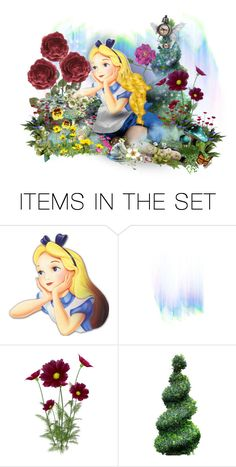 """""""All in the Golden Afternoon"""" by the-alchemistress ❤ liked on Polyvore featuring art, doll, Wonderland, dollset and artexpression"""