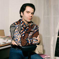 Karl Lagerfeld, April 1972