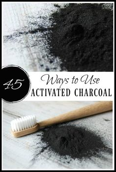 Natural Home Remedies Looking for more ways to use activated charcoal? There are so many ways to use activated charcoal. Learn these 45 ways to use it in skincare, remedies, the home, and even food! Natural Home Remedies, Natural Healing, Herbal Remedies, Health Remedies, Holistic Remedies, Activated Charcoal Uses, Natural Living, Natural Skin Care, Natural Beauty