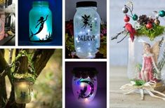 23 Enchanting DIY Fairy Jar Ideas that are Budget-friendly and Easy to Make Wine Cork Crafts, Wine Bottle Crafts, Wine Bottles, Diy Christmas Garland, Christmas Centerpieces, Halloween Decorations To Make, Diy Spring Wreath, Fairy Jars, Dollar Store Halloween